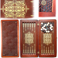 "20"" Handmade Wooden Backgammon - ORION"