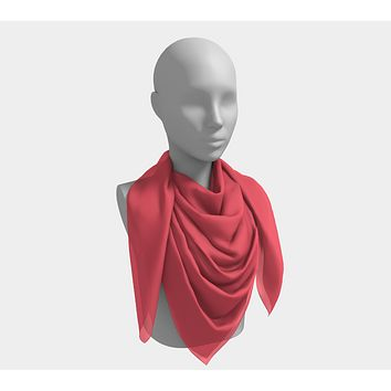 Solid Square Scarf - Coral