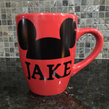 Disney Mug, Mickey Mug, Mickey Ears Mug, Family Mug Set,Disney Ears Mug, Disney Gift, Mother's Day Gift,Father's Day Gift