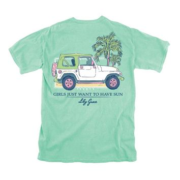 Lily Grace Girls Just Want To Have Fun Short Sleeve T-shirt in Island Reef 12219