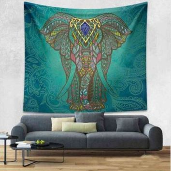 ESBU3C Queen Mandala Tapestry Beach Towel Swimming Indian Wall Hanging Bohemian Hippie Elephant Bedspread Travel Mattress Sleeping Pad