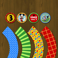 Mickey Mouse Clubhouse Printable Cupcake toppers - Mickey Clubhouse Cupcake toppers with Wrappers