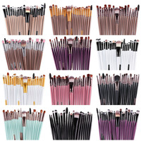 Very Soft 15 pcs. Multi Colored Makeup Brushes