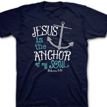 Women T Shirt JESUS IS THE ANCHOR OF MY SOUL