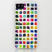 Watercolor Squares iPhone & iPod Case by dani