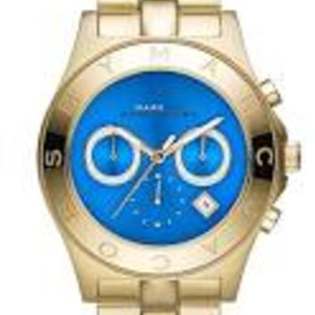 Marc by Marc Jacobs Blade Blue Dial Gold Tone Ladies Watch MBM3307