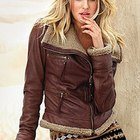 Leather Aviator Jacket - Victoria's Secret