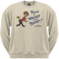 Dr. Seuss - Wocket Cover Distressed Crew Neck Sweatshirt