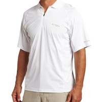 Columbia Gen 2 Freezer Polo Shirt (X-Large, White, Cool Grey)