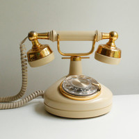 Vintage 1970s Rotary Phone by Western Electric - French Celebrity