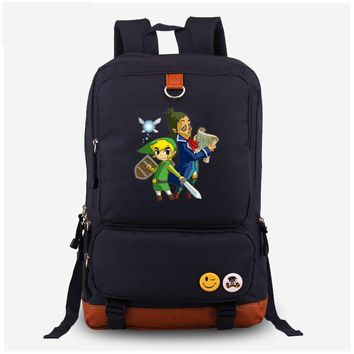 The Legend of Zelda LINK Cosplay backpack Anime fashion casual backpack teenagers Men women's Student School Bags travel bag