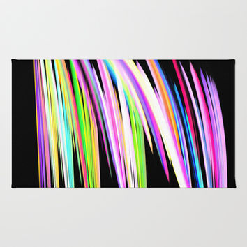 Rainbow Crayon Scribble Area & Throw Rug by Leatherwood Design