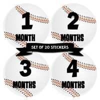 Baby Boy Monthly Baby Stickers - Baby Month Deluxe Sticker Set of 20