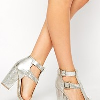 New Look Search Silver Strap Heeled Sandals