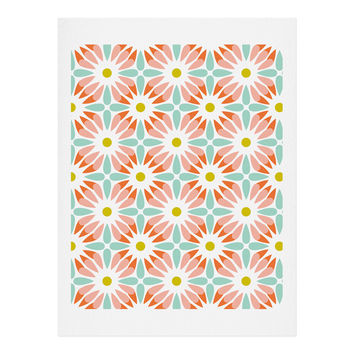 Heather Dutton Crazy Daisy Sorbet Art Print