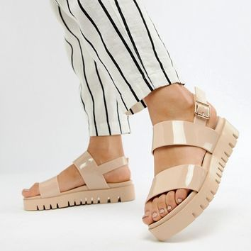 caf947e4565 ASOS DESIGN Fadey Chunky Jelly Flat Sandals at asos.com