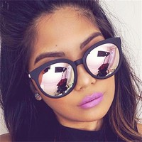 sexy quay mirror cat eye sunglasses ladies brand designer shades rose gold sun glasses for women vintage retro black sunglasses