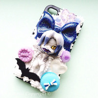 Custom Kawaii Decoden Death Note Light, L, Misa and Ryuk phone case for iPhone 4/4s, 5, samsung galaxy S2 S3 S4, Ipod Touch