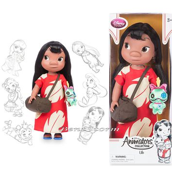 "Licensed cool Disney Store 16"" Lilo & Stitch Scrump Animators Collection Toddler Doll Figure"