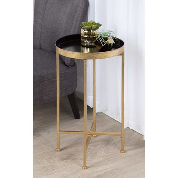 Kate and Laurel Celia Round Metal Foldable Tray Accent Table | Overstock.com Shopping - The Best Deals on Coffee, Sofa & End Tables