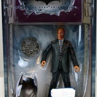 Batman Dark Knight Movie Master Exclusive Deluxe Action Figure TwoFace with Double Sided Coin