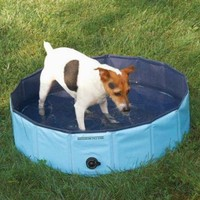 """PetEdge Guardian Gear Splash About Dog Pools, Sky Blue, Small; 8"""" x 32"""""""