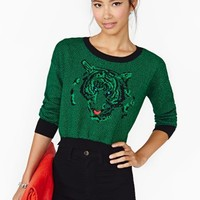 Eye Of The Tiger Crop Knit