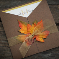 Fall Wedding Invitation - Custom Sample