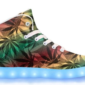 Hawaiian Haze - APP Controlled High Top LED Shoes