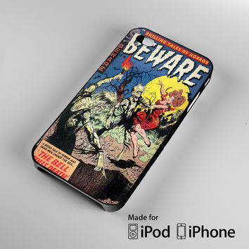 Vintage Horror Comic The Bell Tolls Death iPhone 4S 5S 5C 6 6Plus, iPod 4 5, LG G2 G3, Sony Z2 Case