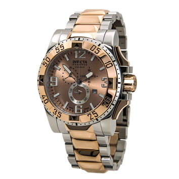 Invicta 15334 Men's Excursion Rose Gold Dial Two Tone Steel Chronograph Dive Watch