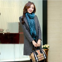 Women : Stylish Cashmere Coat Autumn 2014 YRB0412