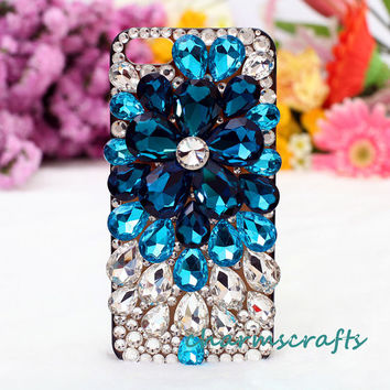 Samsung Galaxy II S2 Skyrocekt i727 Sprint Epic Touch 4g D710 T-mobile T989 i9100,Mega 6.3,galaxy s3/s4/s4 active Case Bling luxury crystals