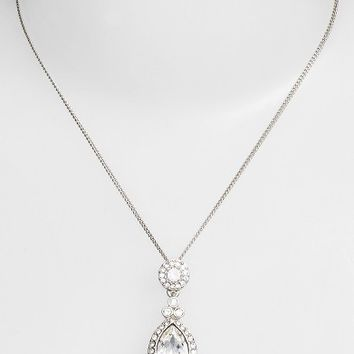 Givenchy Crystal Teardrop Pendant Necklace | Nordstrom