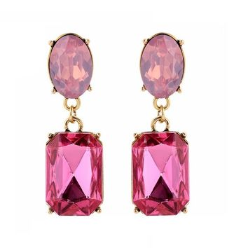 Multicolor Square Candy Drop Earrings