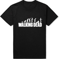 Cool Brand Summer New Mens Clothing The Walking Dead T Shirts Cotton Short Sleeve TOP Tees Novelty Design Movie Play T-shirt