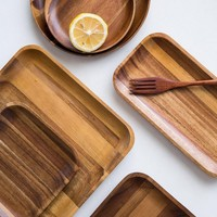 Acacia Wooden Tray Dinner Plate