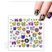 Jem Beauty Supply: Misc 13348 Nail Water Decal Sailor Moon 1 Sheet, Nail Art Stickers