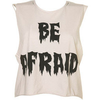 Be Afraid Cropped Vest