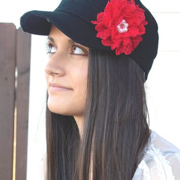Women's Red Cadet Hat