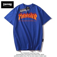 Hot Tunic THRASHER t shirt Women Men Fashion Print Sport Shirt Top Tee