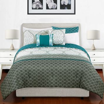 Natalia 5-pc. Reversible Comforter Set (Grey)