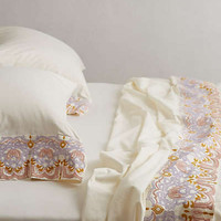 Anthropologie - Damask Sheet Set