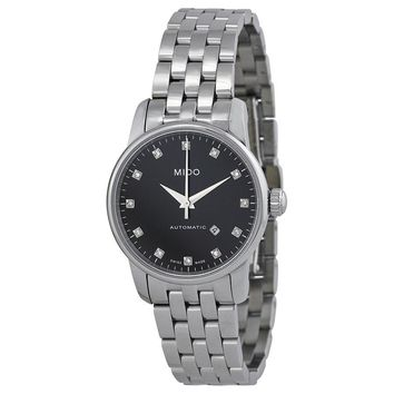 Mido Baroncelli Automatic Black Dial Stainless Steel Ladies Watch M76004681