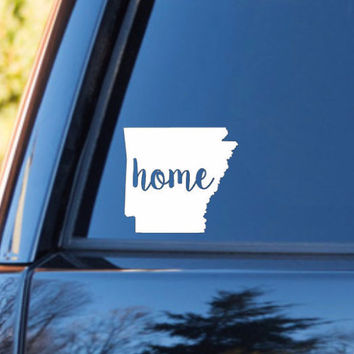 Arkansas Home Decal | Arkansas State Decal | Homestate Decals | Love Sticker | Love Decal  | Car Decal | Car Stickers | Bumper | 096