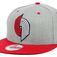 Portland Trail Blazers NBA Hardwood Classics Heather Gray 9FIFTY Snapback Cap