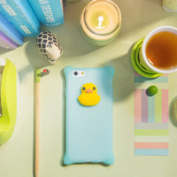 Korean bubble bones cute simple silicone case against shell