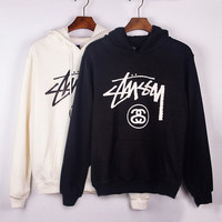 Stussy High Quality Couple fashion Hooded Sweatshirt Hoodie Top Shirt Exercise Gym Casual Yoga Sportswear _ 9549