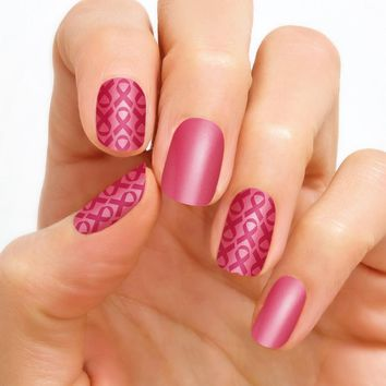 100% Real Nail Polish Strip by Color Street - Pink Ribbon (Buy 3 get 1 Free)