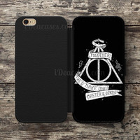 Harry Potter Master Of death Wallet Case For iPhone 6S Plus 5S SE 5C 4S case, Samsung Galaxy S3 S4 S5 S6 Edge S7 Edge Note 3 4 5 Cases